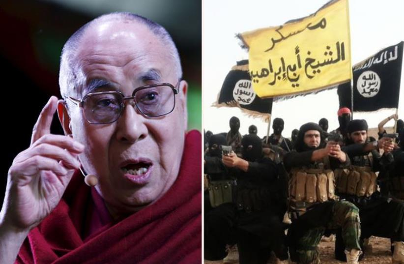 Dalai Lama and ISIS (photo credit: REUTERS)