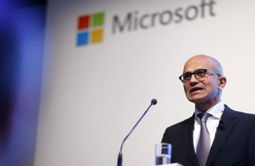 Microsoft CEO Satya Nadella (photo credit: REUTERS)