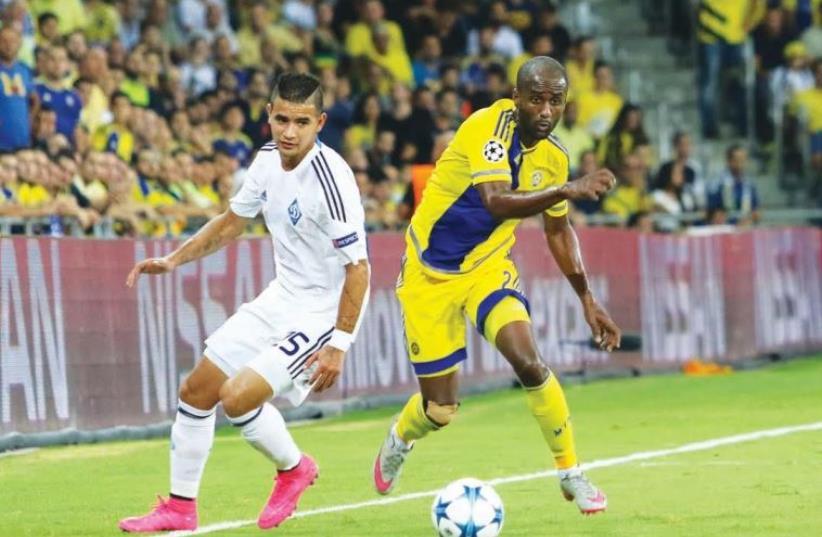 Maccabi Tel Aviv vs Dynamo Kiev (photo credit: ERAN LUF)