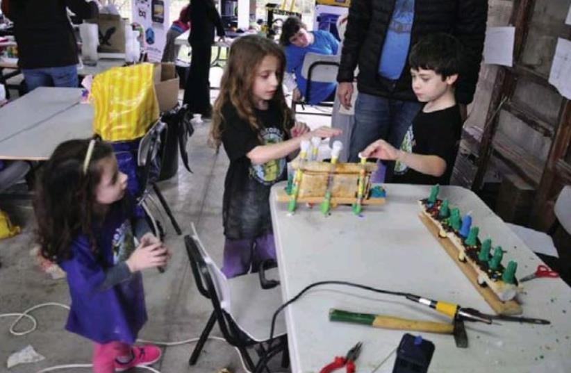 THE ANNUAL GeekCon Kids gathering (photo credit: GEEKCON)
