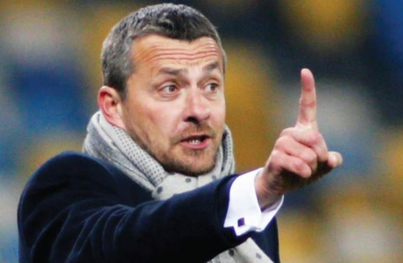 Maccabi Tel Aviv coach Slavisa Jokanovic admitted his team lacked quality after it ended its Champions League group campaign with six defeats from six matches, scoring just one goal. (photo credit: REUTERS)