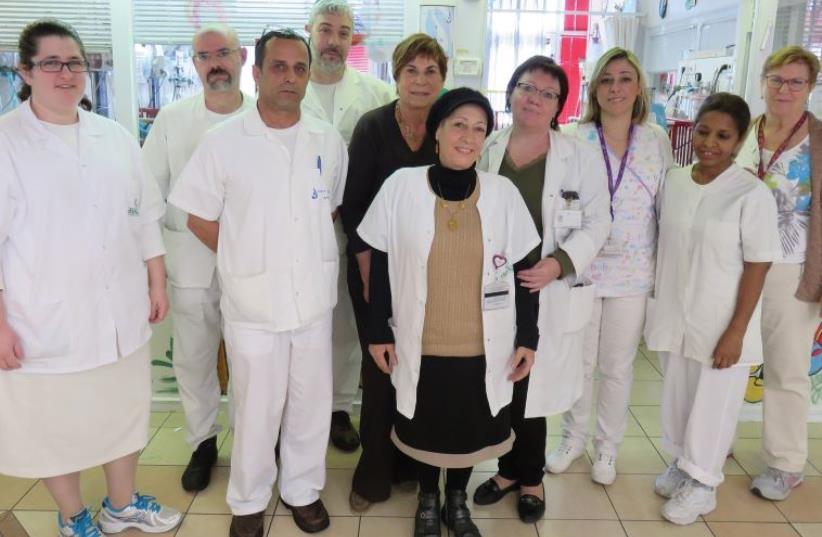 THE UNIT'S devoted staff (photo credit: JUDY SIEGEL-ITZKOVICH)