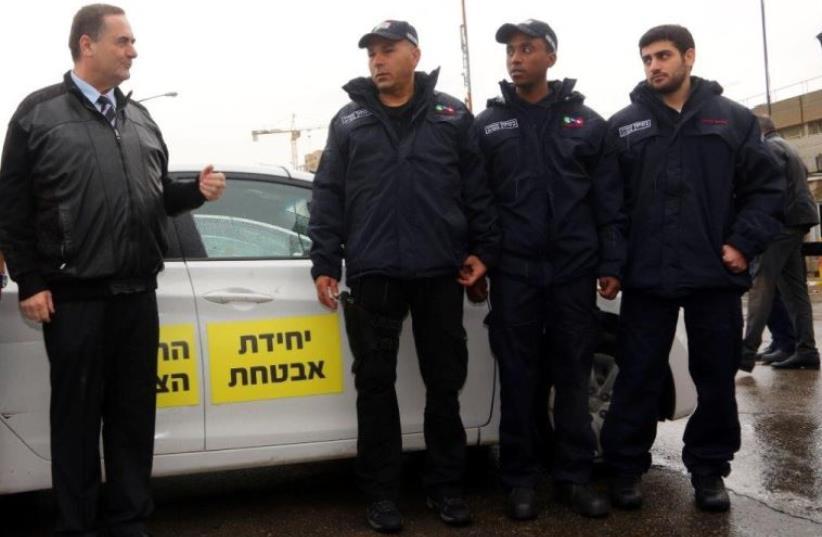 Transportation Minister Israel Katz launches a civilian security unit in Jerusalem (photo credit: SASSON TIRAM)