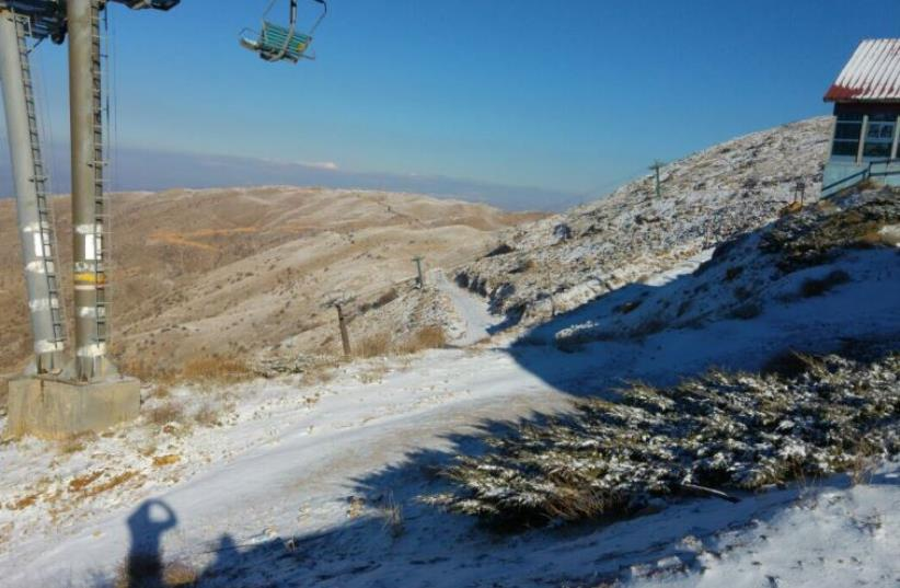 Mount Hermon covered in snow (photo credit: Courtesy)