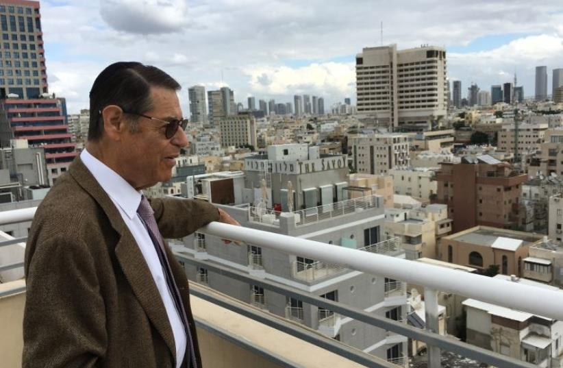 Michael gross, in a luxury apartment development along Tel aviv's water front, is also interested in building affordable rental housing for Israelis. (photo credit: NIV ELIS)