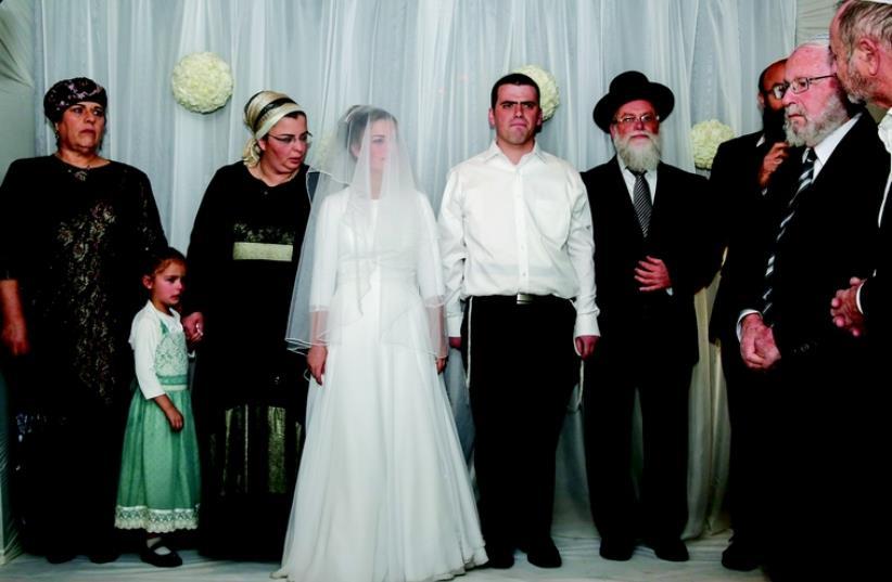 Mariage de Sarah -Tehiyah Litman et Ariel Biegel (photo credit: FLASH90)