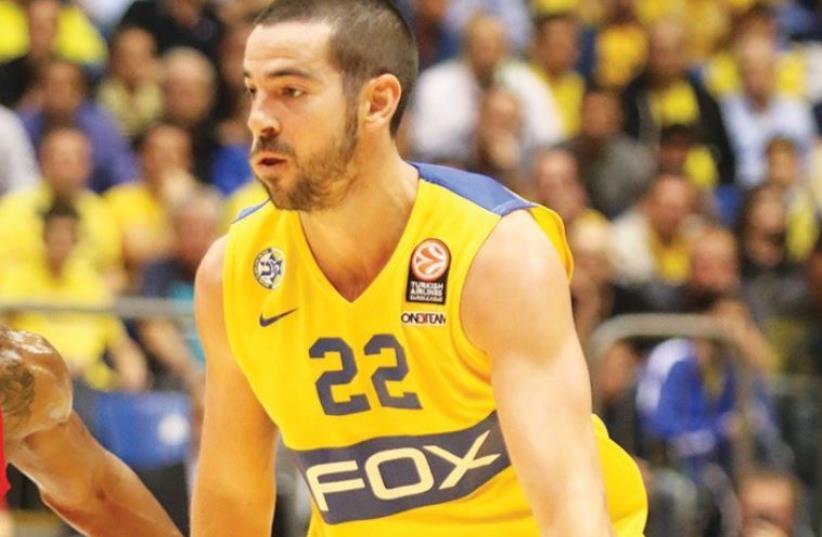 Maccabi Tel Aviv guard Taylor Rochestie (photo credit: ADI AVISHAI)