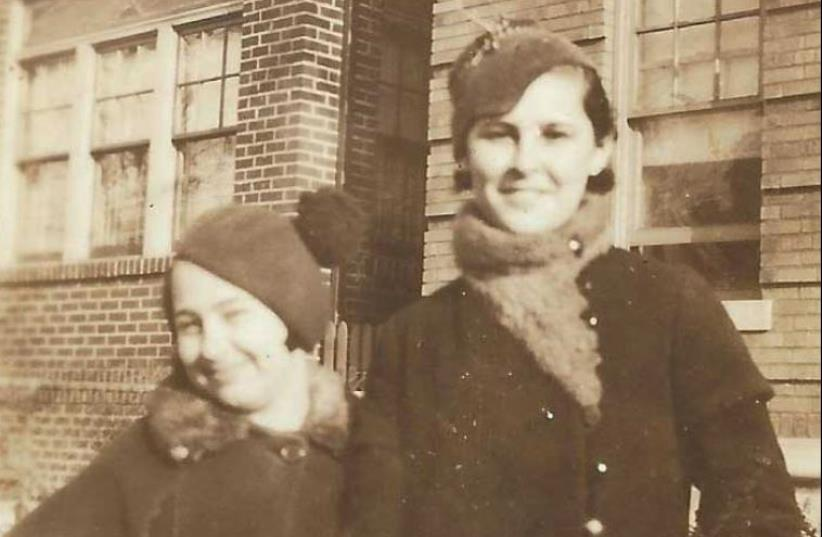 THE AUTHOR'S mother Saralee at age nine (left), next to her sister Alice in Brooklyn, NY. (photo credit: COURTESY RENEE LEVINE MELAMMED)