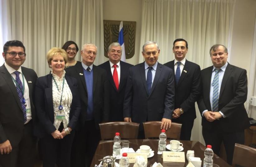 Prime Minister Benjamin Netanyahu meets with Limmud FSU leadership (photo credit: Courtesy)
