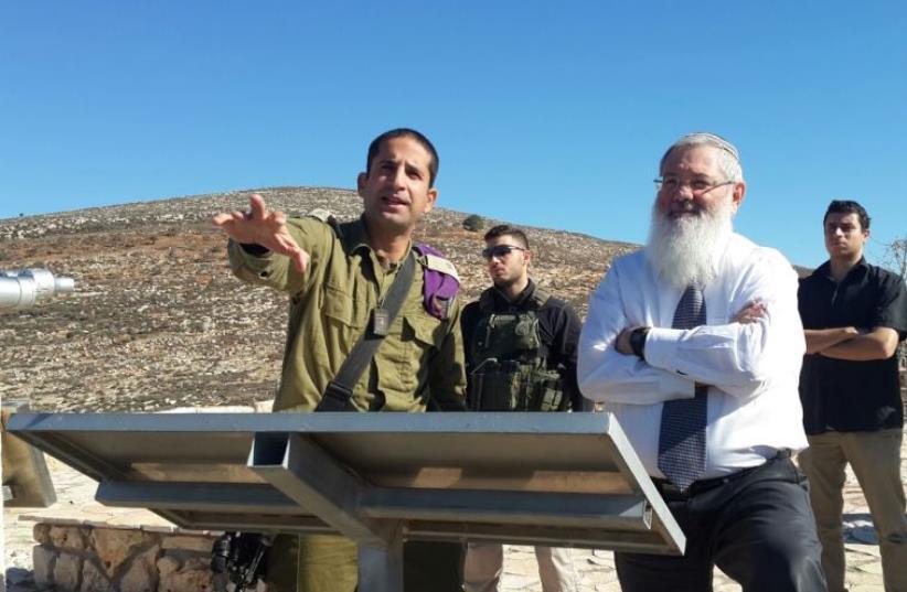 Deputy Defense Minister and Bayit Yehudi MK Eli Ben-Dahan visiting the Givati Brigade's Tomer Company in the Shomron (photo credit: OFFICE OF DEPUTY MINISTER ELI BEN-DAHAN)