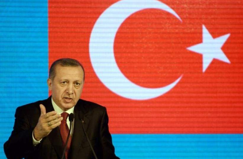Turkish Prime Minister Recep Tayyip Erdogan (photo credit: AFP PHOTO)