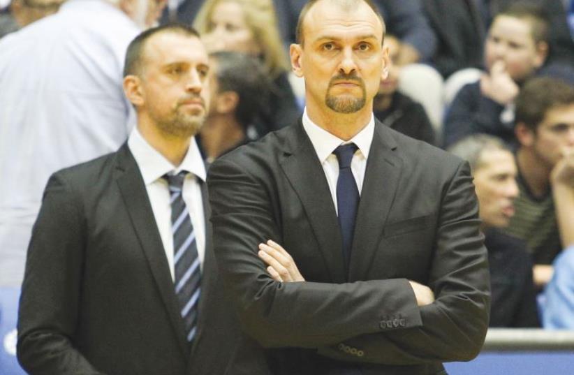 Maccabi Tel Aviv coach Zan Tabak (photo credit: DANNY MARON)