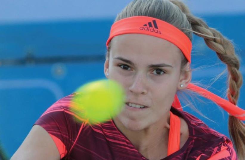 Israeli tennis star Olga Fridman (photo credit: NIR KEIDAR/ISRAEL TENNIS ASSOCIATION)
