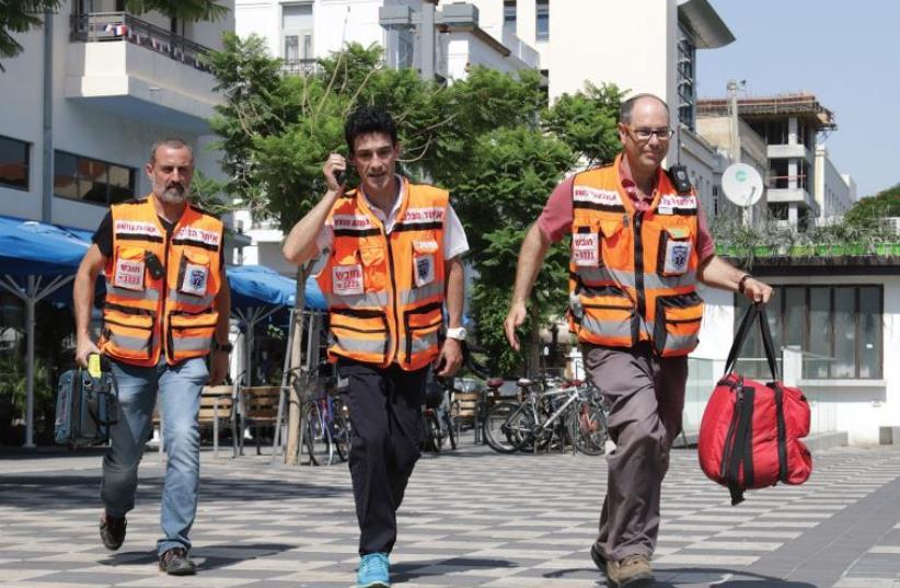 UNITED HATZALAH medics are ready for duty around the clock (photo credit: UNITED HATZALAH)
