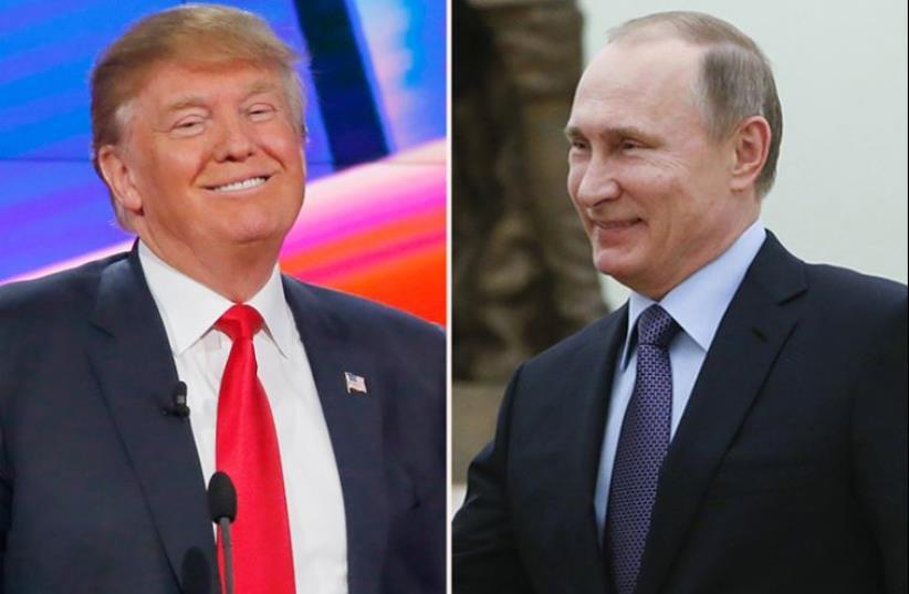 Trump and Putin (photo credit: REUTERS)