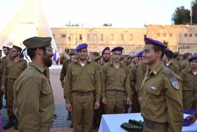 Haredi men enlist in IDF (photo credit: Courtesy)