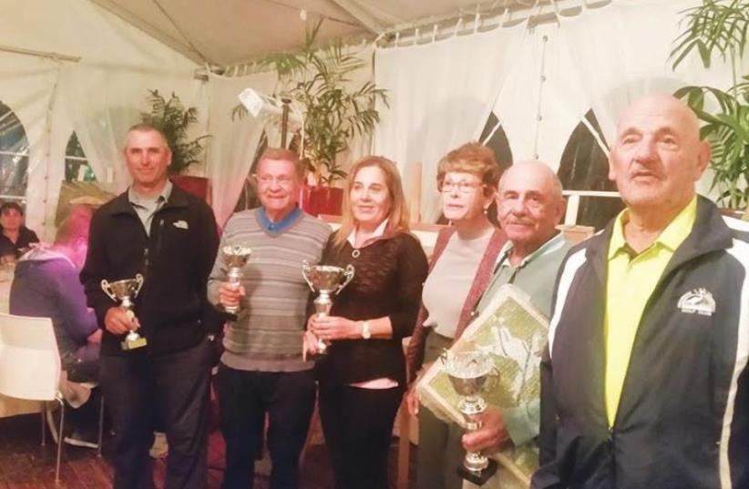 Ga'ash Golf tournament winners (photo credit: Courtesy)
