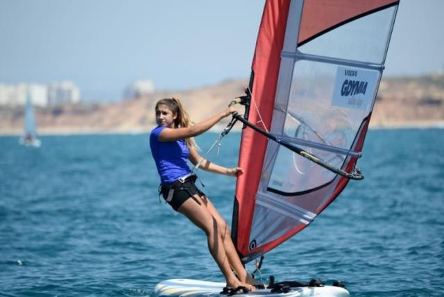 Windsurfer Noy Drihan (photo credit: AMIT SHISEL/ISA)