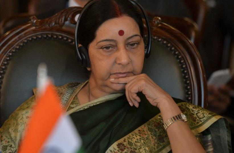 Indian Foreign Minister Sushma Swaraj (photo credit: REUTERS)
