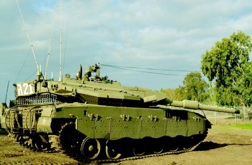 Le tank Merkava III (photo credit: IDF)