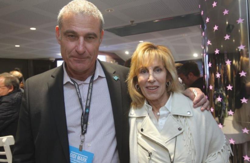 FILM PRODUCER Nancy Spielberg seen here with Gidi Mark, International CEO of Birthright Israel, at Cinema City Glilot. (photo credit: EREZ OZIR)