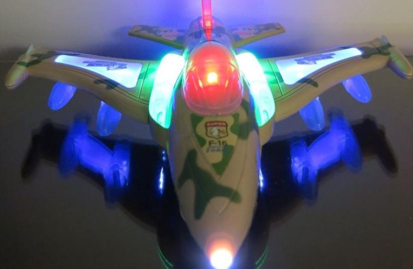 Electric F16 military fighter jet aircraft airplane toy (photo credit: AMAZON)