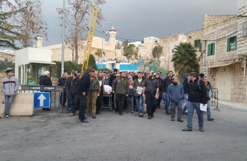 Funeral of Genady Kaufman, December 30, 2015. (photo credit: Courtesy)