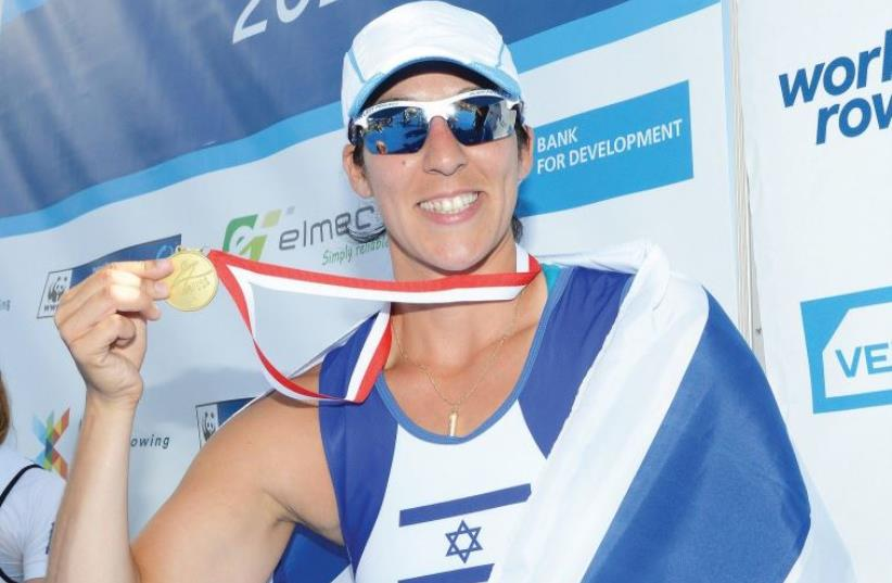 MORAN SAMUEL garnered more than 90 percent of the readers' votes to earn the honor of 'The Jerusalem Post' Israeli Sports Personality of 2015 (photo credit: DETLEV SEYB)