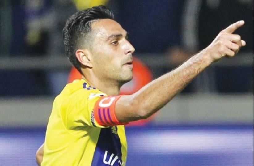 Maccabi Tel Aviv star Eran Zahavi (photo credit: DANNY MARON)