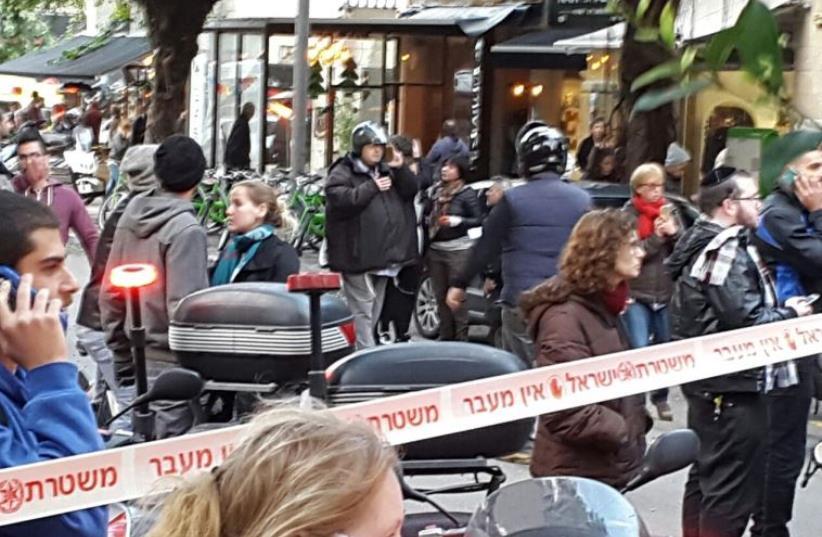 Scene of terror attack in Tel Aviv (photo credit: Courtesy)