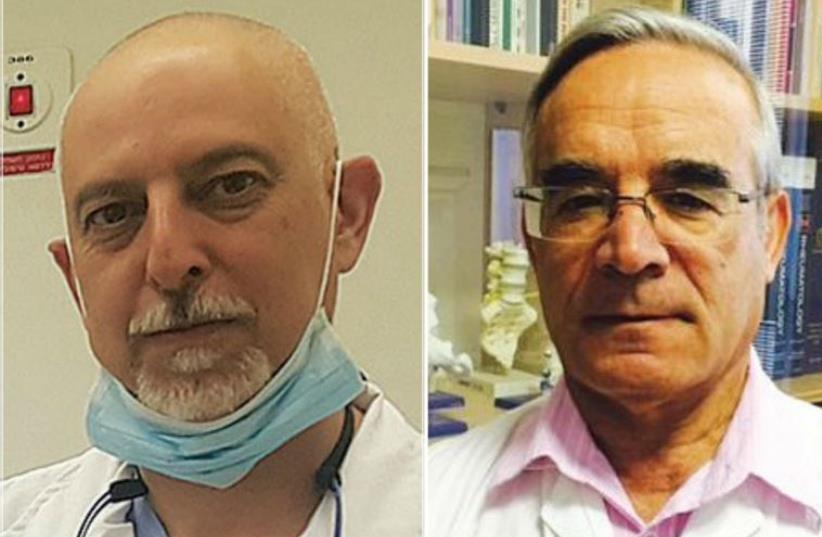 Prof. Eldad Ben-Chetrit (R) and Prof. Doron Aframian (photo credit: Courtesy)