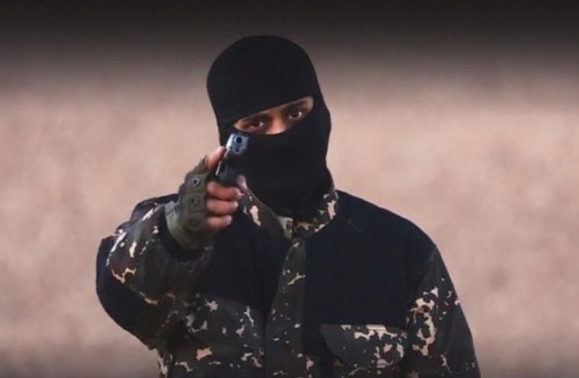 Islamic State video threatens Britain (photo credit: screenshot)