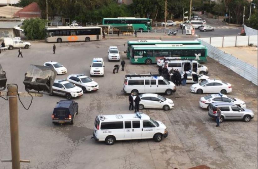 Manhunt underway in central Herzliya for feared terrorist on the loose. (photo credit: TZEVET DROR)