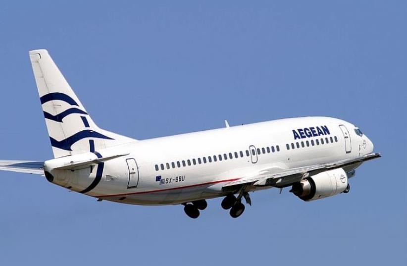 Aegean Airlines jet [File] (photo credit: WIKIMEDIA COMMONS/JETPIX)