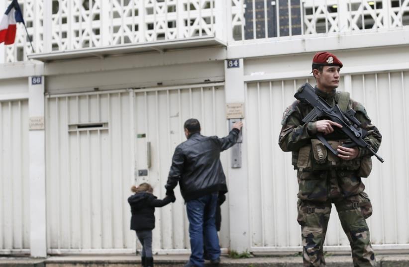 Ecoles sous haute protection (photo credit: REUTERS)