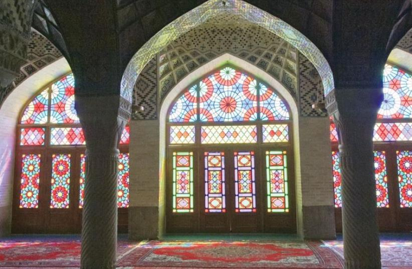 THE PINK Mosque is triumph of decorative religious art in stone, plaster, tile, stained glass, wood and textile, in Shiraz. (photo credit: PAUL ROSS)