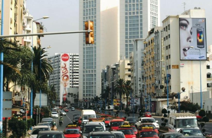 A view of downtown Casablanca. (photo credit: Wikimedia Commons)
