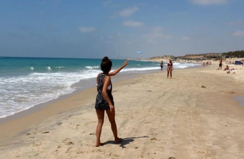 Palmahim Beach in the summer  (photo credit: DOV GREENBLAT/SPNI)