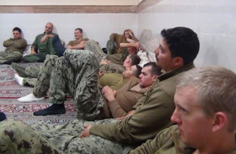 American sailors arrested in Iran (photo credit: ARAB MEDIA)