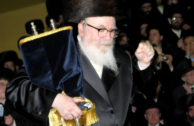 Rabbi David Twersky, known as the Skverer Rebbe of New Square (photo credit: Wikimedia Commons)
