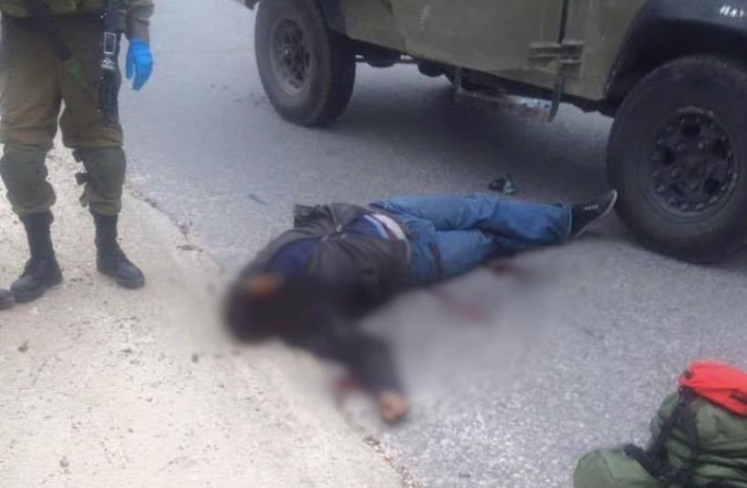 Suspected assailant shot and killed near Nablus (photo credit: ARAB MEDIA)