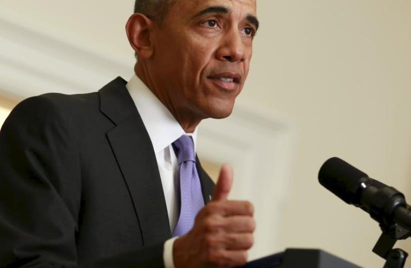 US President Barack Obama delivers a statement  (photo credit: REUTERS)