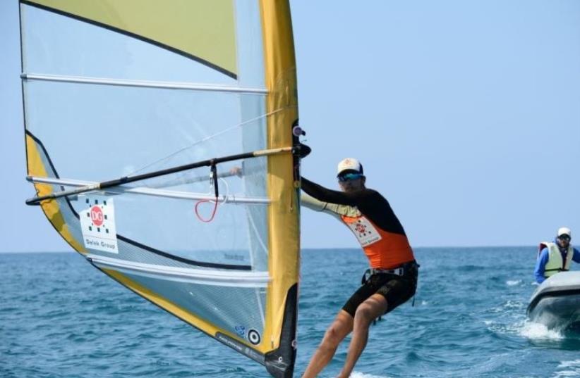 Israeli windsurfer Nimrod Mashiah (photo credit: AMIT SHISEL/ISA)