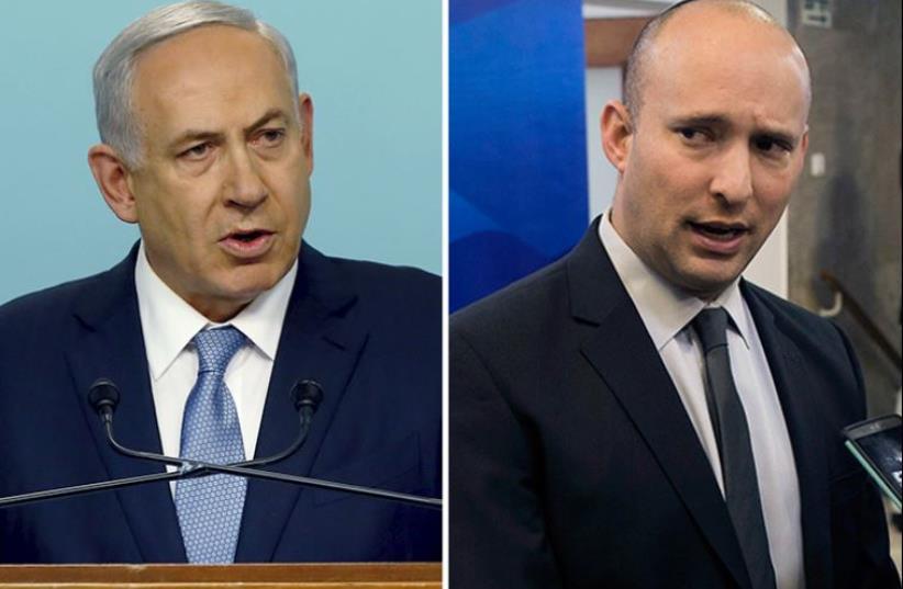 Netanyahu and Bennett (photo credit: ABIR SULTAN / POOL / AFP,REUTERS)