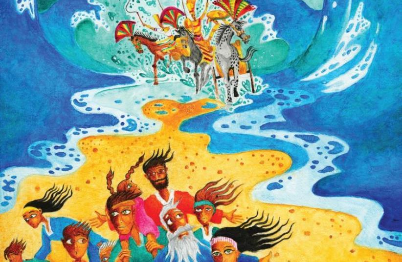 Illustration by Darius Gilmont, from the German-language 'Torah for Children,' published by Ariella Books, Berlin (photo credit: WWW.DARIUS-ART.COM/WWW.ARIELLA-VERLAG.DE)