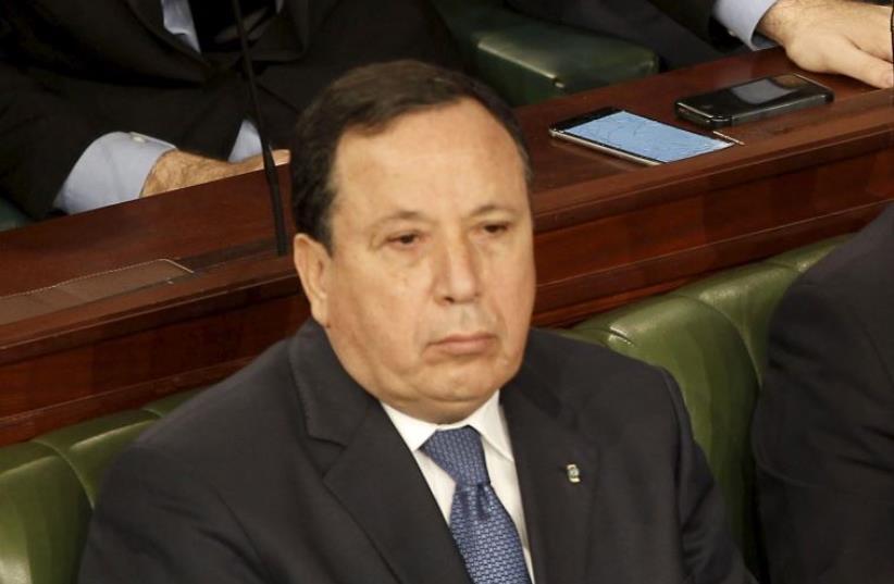 Tunisian FM Khemaies Jhinaoui (photo credit: REUTERS)