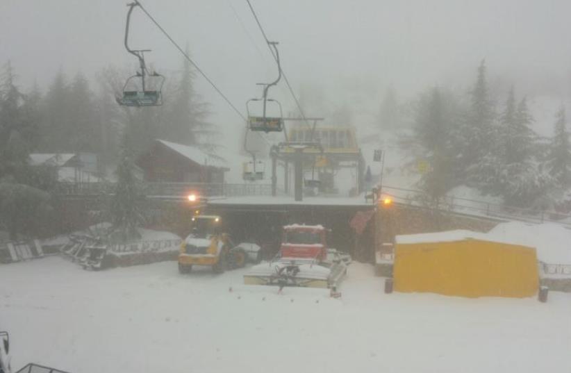 Mount Hermon ski resort, January 24, 2015 (photo credit: MT. HERMON MEDIA)