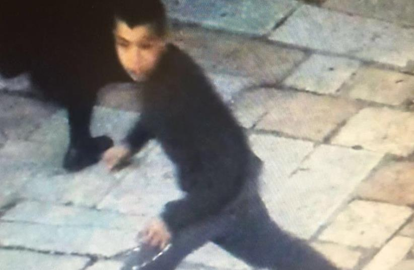 Palestinian suspect in stabbing of Israeli teen in the Old City of Jerusalem (photo credit: Courtesy)