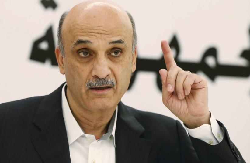Samir Geagea, leader of the Christian Lebanese Forces (photo credit: REUTERS)