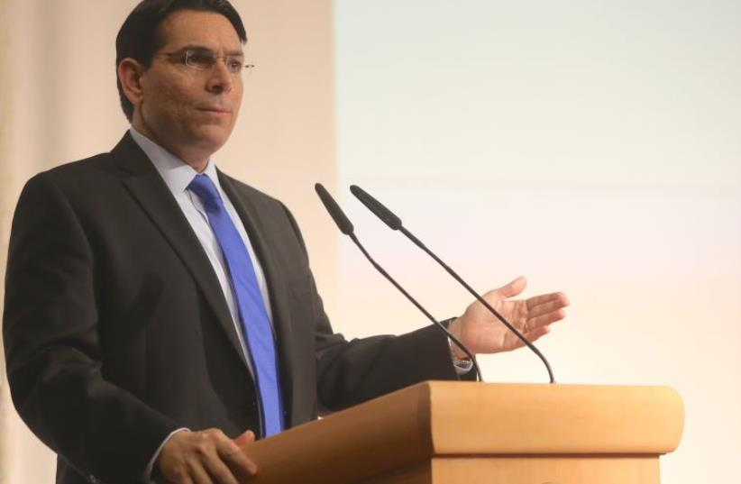 Danny Danon speaking at a WZO conference on Sunday (photo credit: MARC ISRAEL SELLEM/THE JERUSALEM POST)